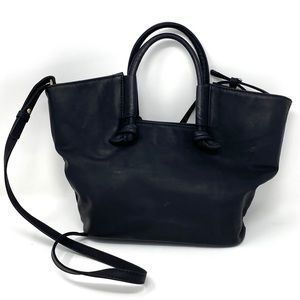 ANTHROPOLOGIE Small Vegan Leather Tote in Black